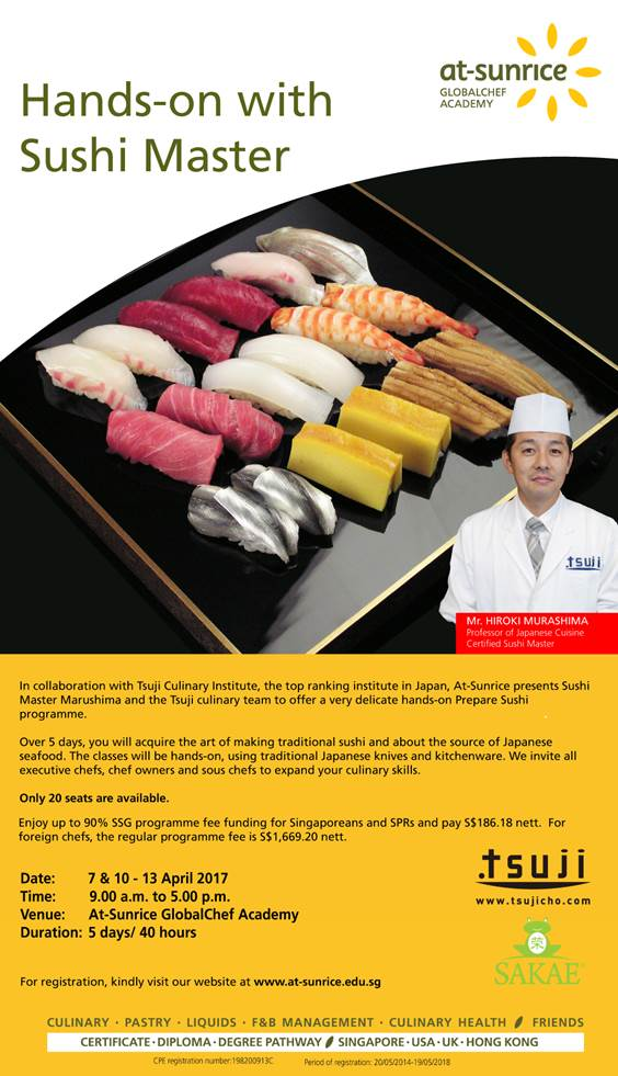Upgrade your skills with Hands-on Sushi training